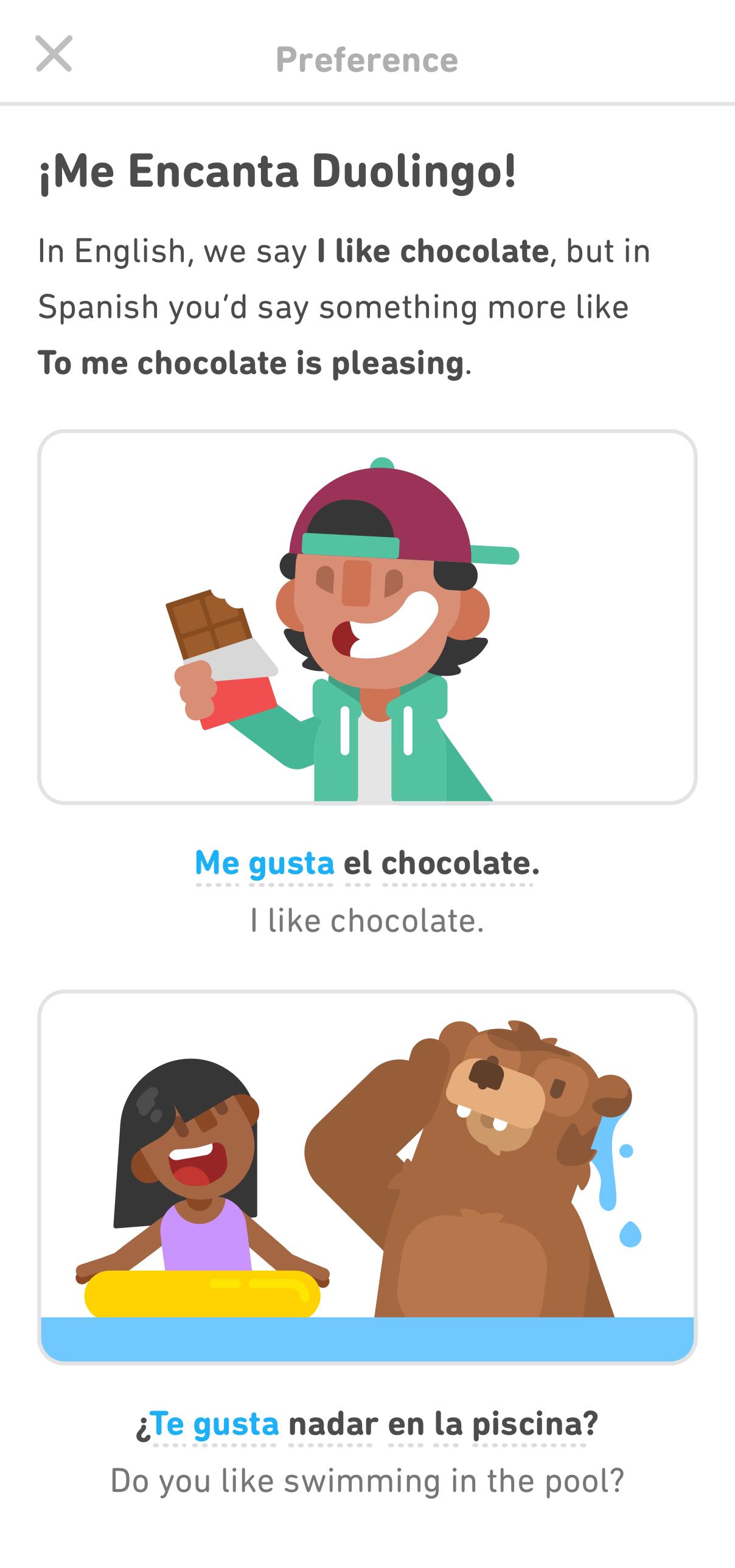 An example Duolingo Tip