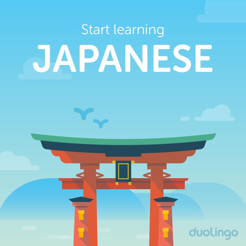 Start learning Japanese on Duolingo