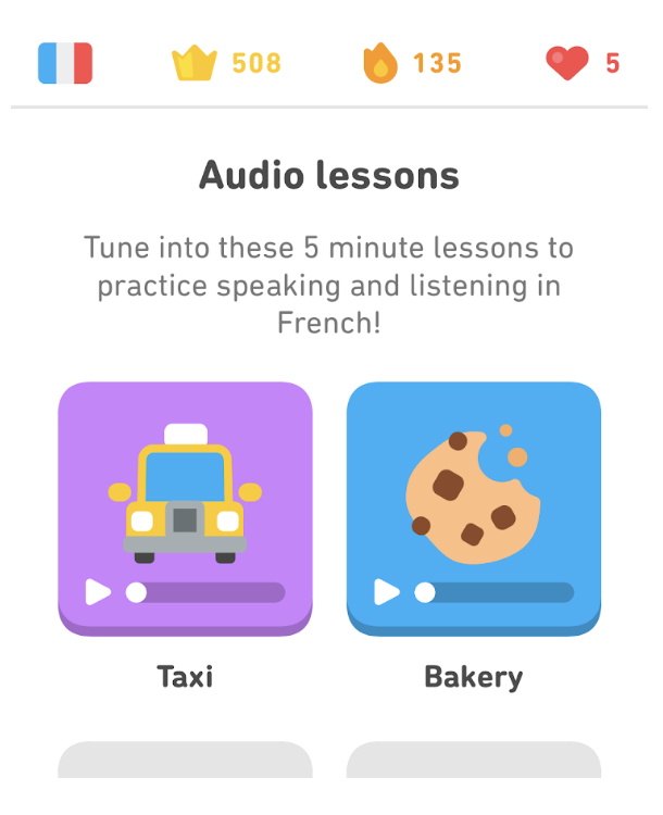 Audio lessons