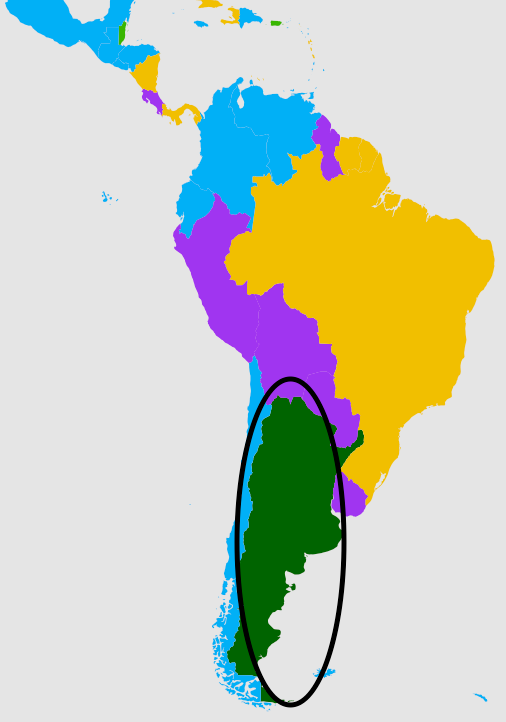 The second most popular language in Argentina.