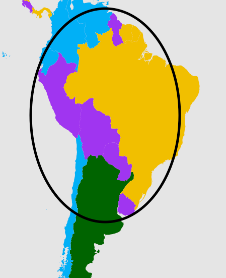 The second most popular languages in South America.