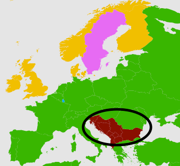 The most popular language in the Balkans.