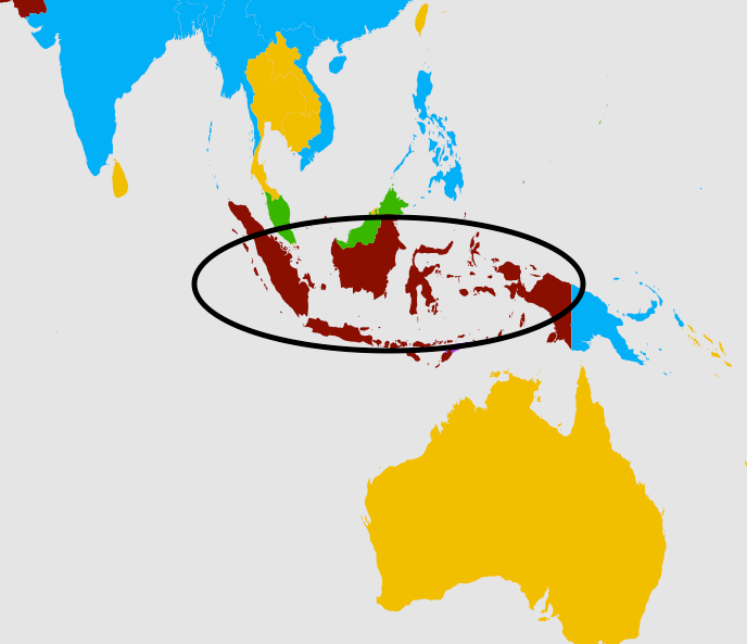 The second most popular language in Indonesia.