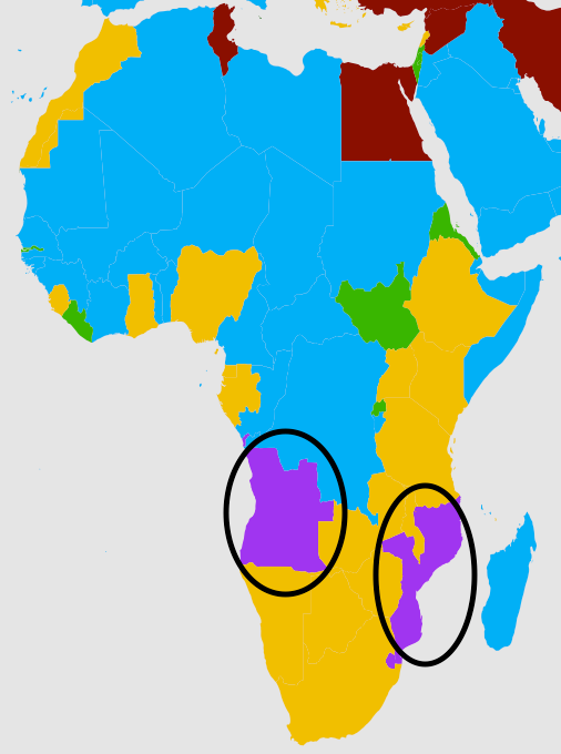 The second most popular language in Angola and Mozambique.