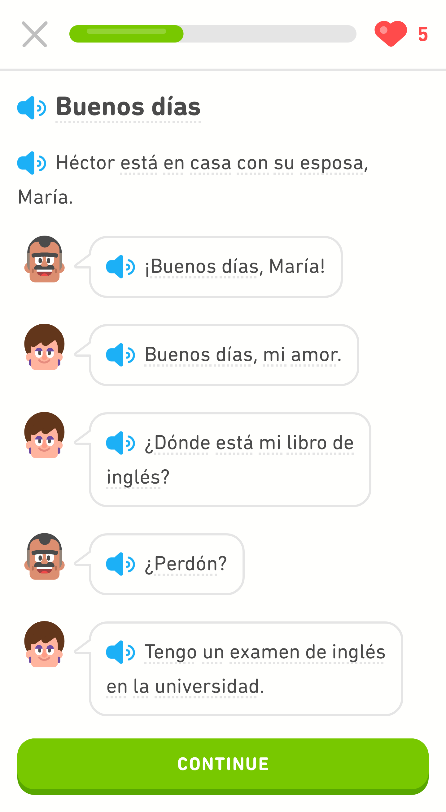 Spanish story about María part 1
