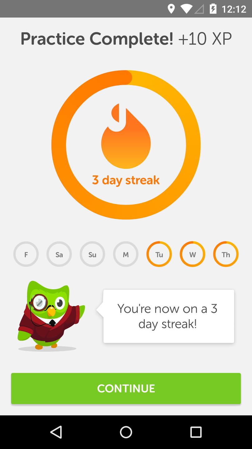 Keeping a streak