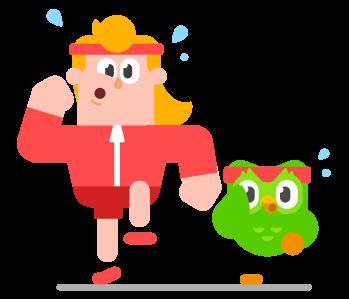 Man in workout gear running alongside Duo