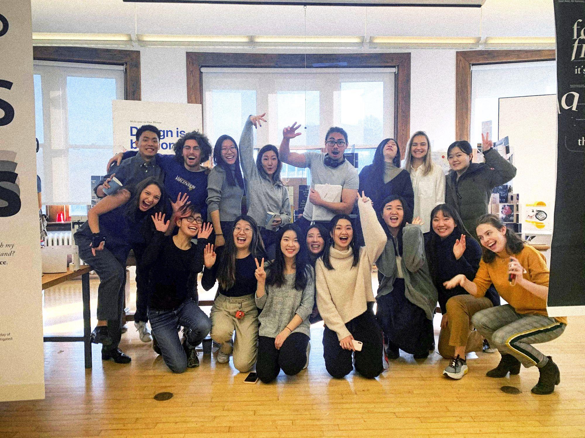 Robert Managad with the Carnegie Mellon communications design class of 2021