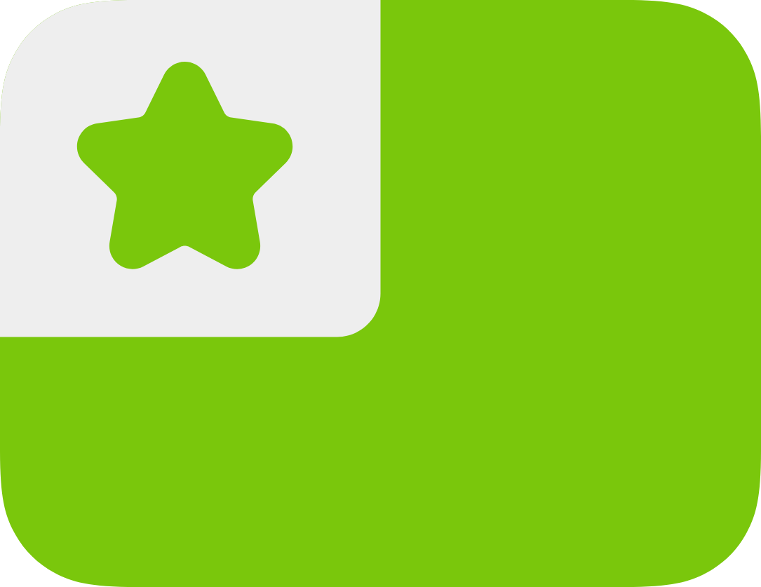 green Esperanto flag with star at top left