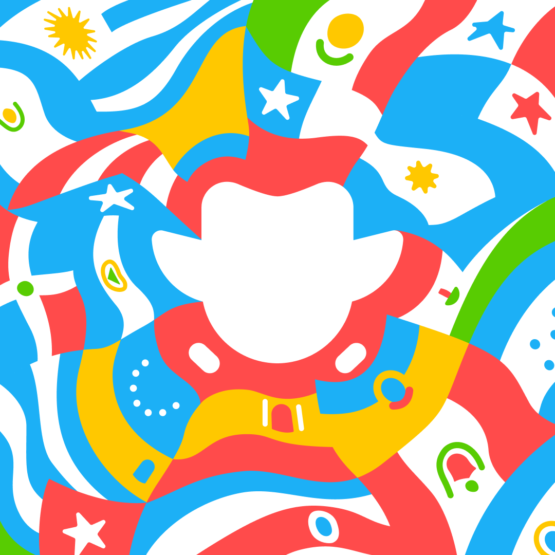 Illustration of the flags of Spanish-speaking countries impressionistically drawn swirling around the white outline of the Duolingo owl